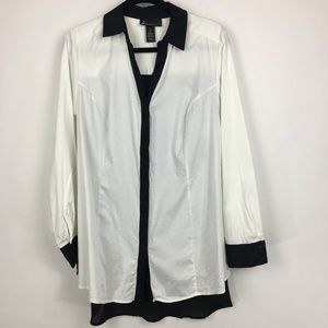 Lane Bryant womens long sleeve button down top 20
